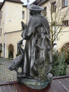 """Gänseprediger"" (goose preacher), Regensburg/Germany."