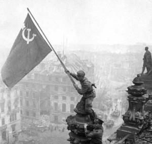 The Red Flag on the German Reichstag, 1945.