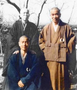 My former teacher (bottom left) with Omori Sogen Roshi (right).